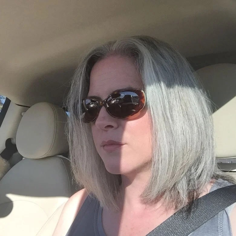 image woman straight gray bob