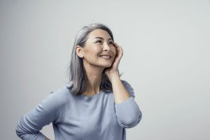 image of gray hair woman
