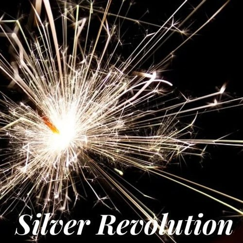 image of silver revolution logo for facebook gray hair support groups