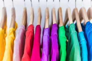 image of colored shirts