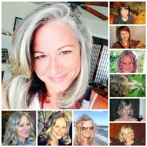 images of woman with gray hair