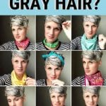 image of what colors look best gray hair Pinterest pin
