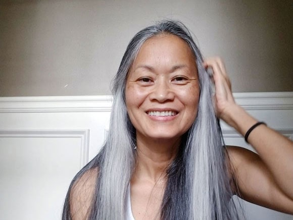 Terry\'s Lovely Long Gray Hair