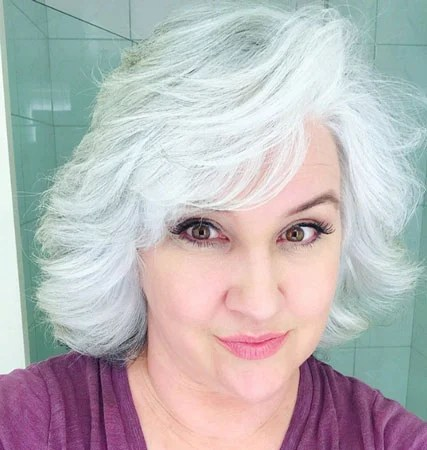 image of woman white hair
