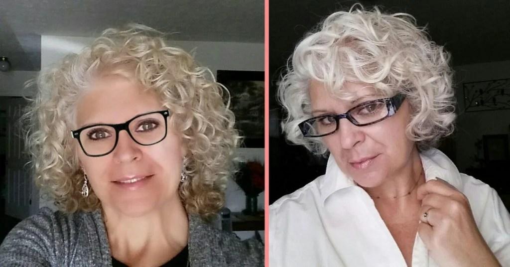 image woman going gray