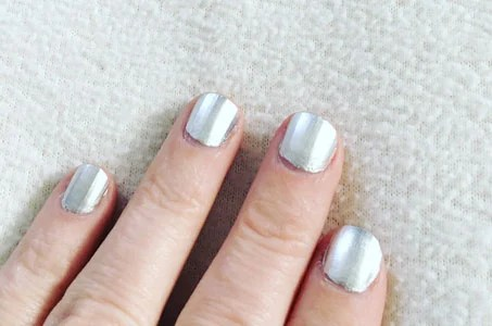 image of silver fingernails