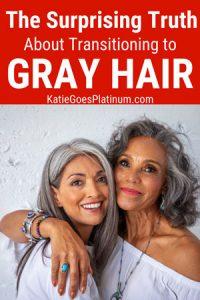 image of beautiful women gray hair