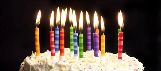 image of birthday candles getting older