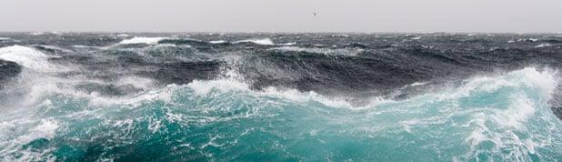image of stormy seas
