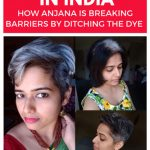 image of a Pinterest pin about going grey in india