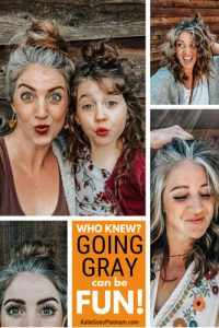 image of fun and natural grey haired woman