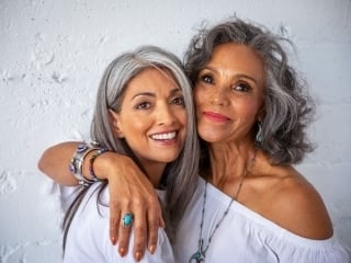 image of two women with gray hair