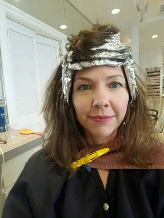 image of woman with foils