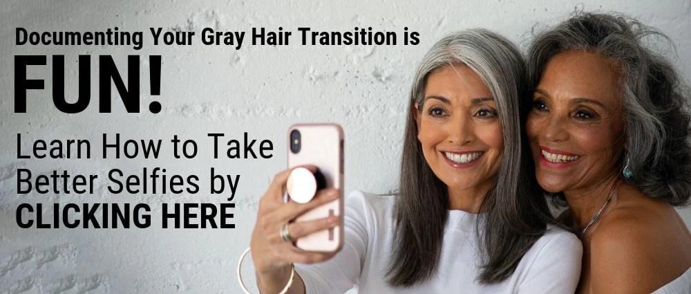 image of gray hair selfie