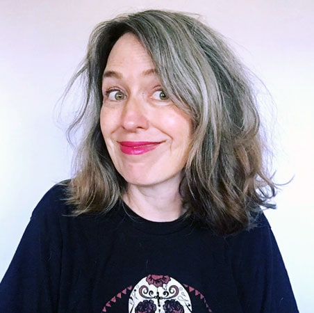 image of messy gray hair