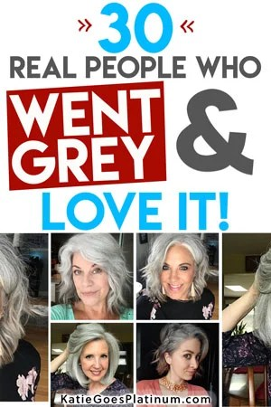 image of pinterest pin about gray hair