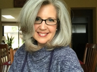 image of woman with gray hair