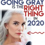 image of woman gray hair