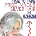 image of woman with silver hair