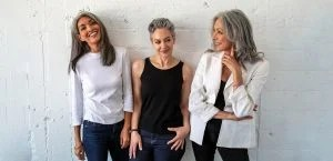 image of women with gray hair at the silver sister convention