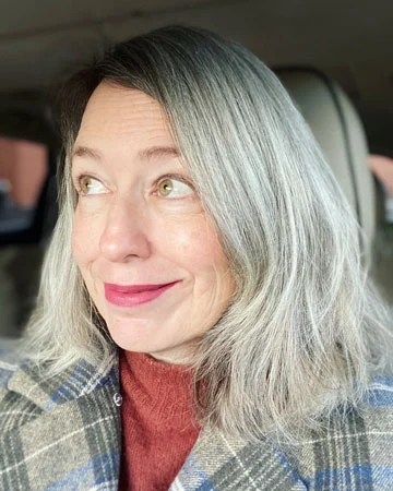 images of woman almost gray hair