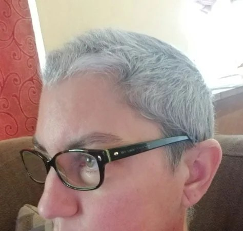 image of woman short gray hair