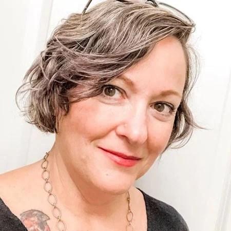image of woman with gray bob