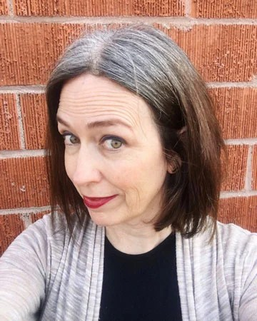 image of woman 7 months going gray