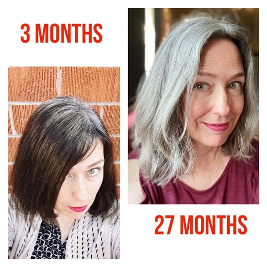image of before and after gray hair