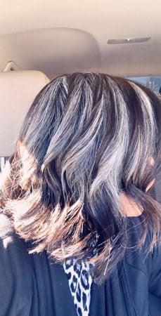 Image of long gray hair