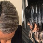 image of the dye strip method for going gray
