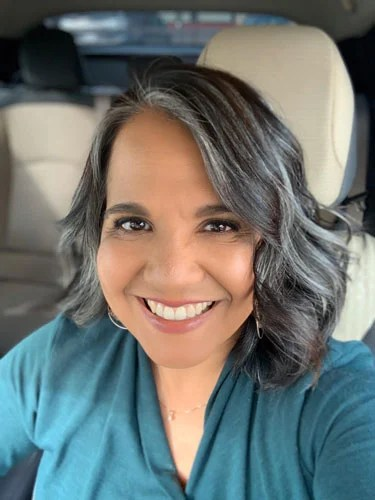 image of lovely woman with gray hair