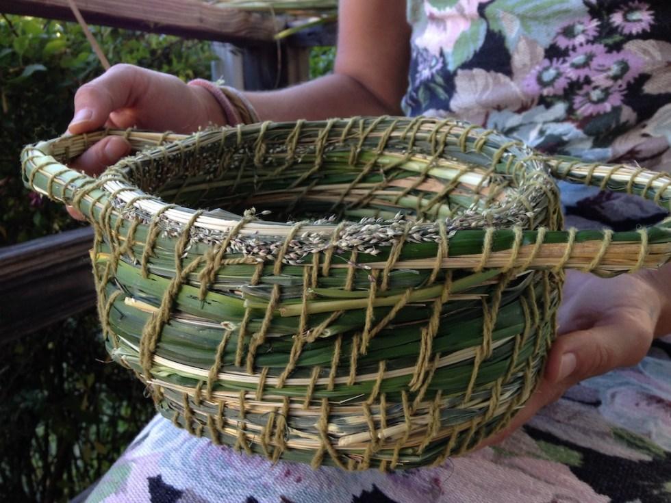beautiful cattail basket