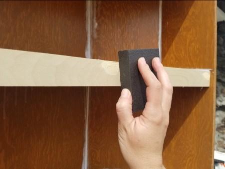 sanding wood filler