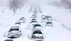 Cars Stuck on Lake Shore Drive