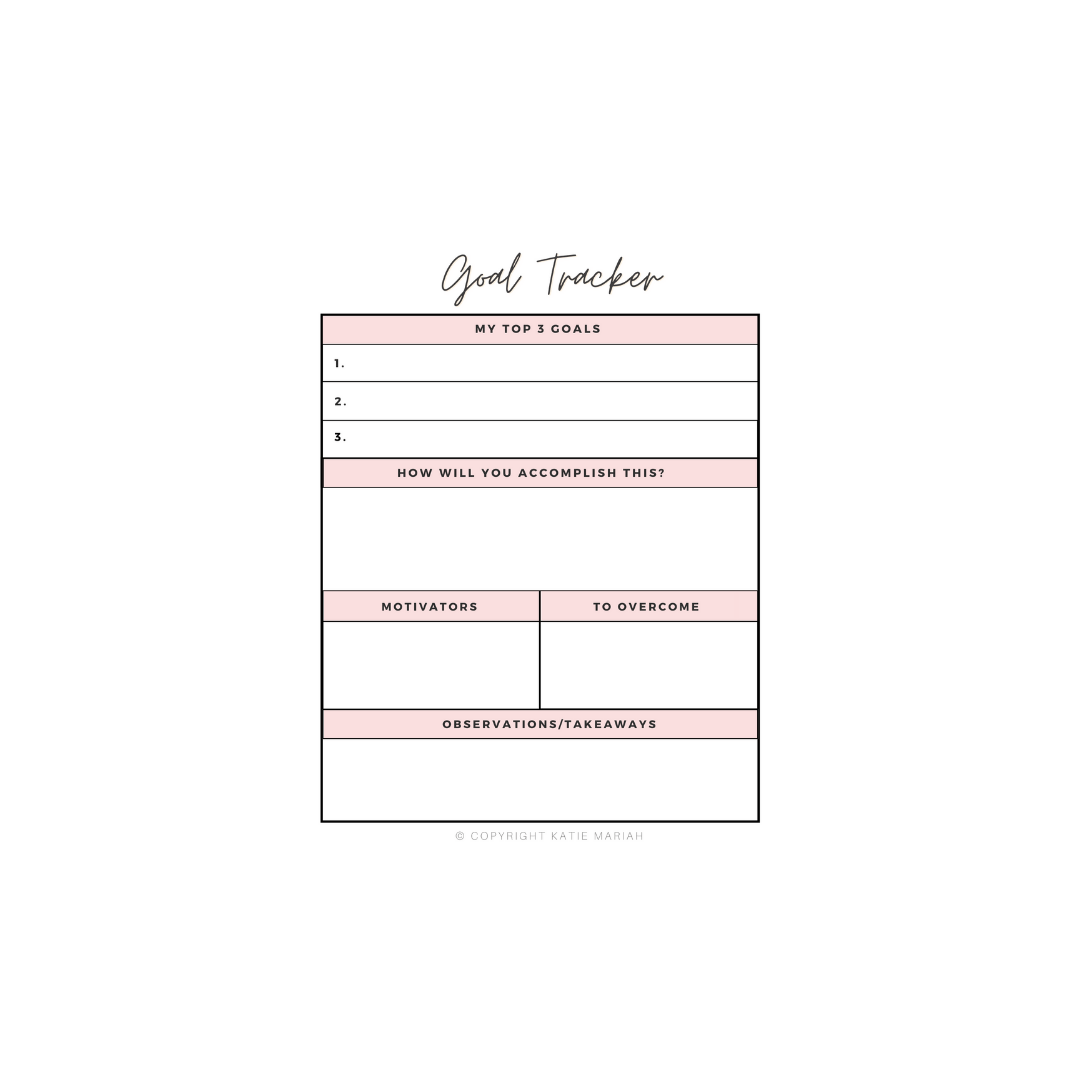 Get my FREE Goal Planner sent straight to your inbox!