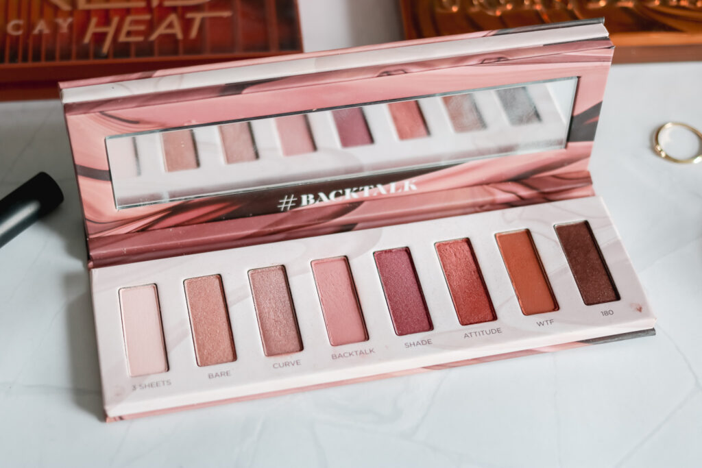 inside the urban decay backtalk dual palette
