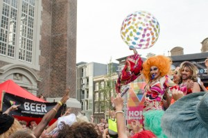 Bitch Volleyball at the Drag Queen Olympics celebrating Gay Pride in Amsterdam