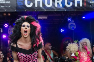 Lolo Benzina takes us to church at the 2016 Drag Queen Olympics celebrating Gay Pride in Amsterdam