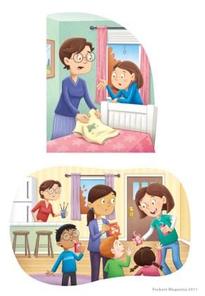 Illustrations for Pockets Magazine