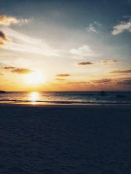 Beach training at sunrise