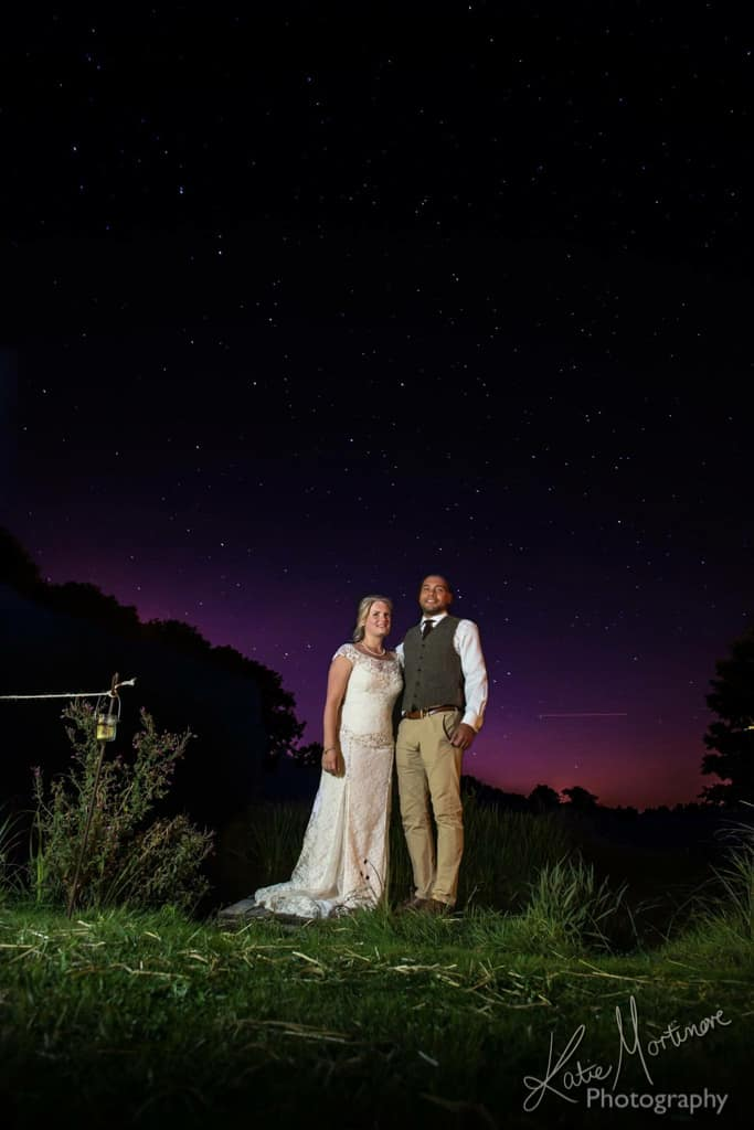 wedding photographer hampshire wiltshire stars sky night