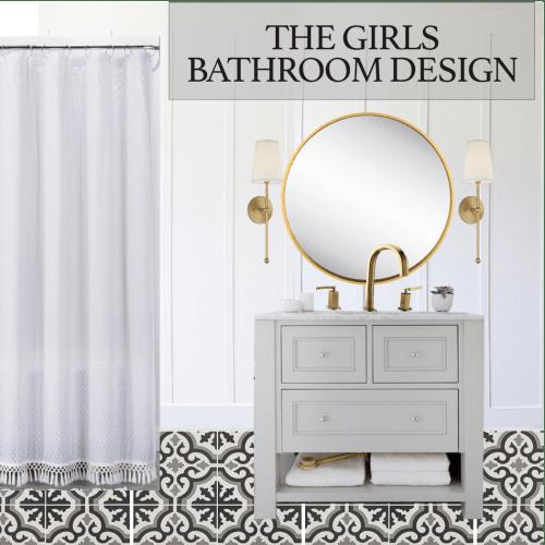 The Girls Bathroom Design