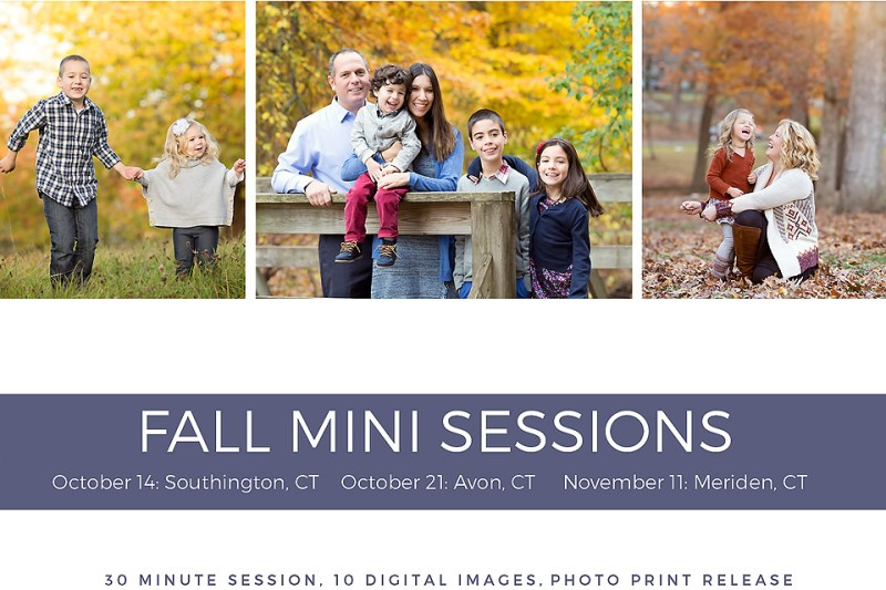 2017 Fall Mini Sessions: CT Photographer