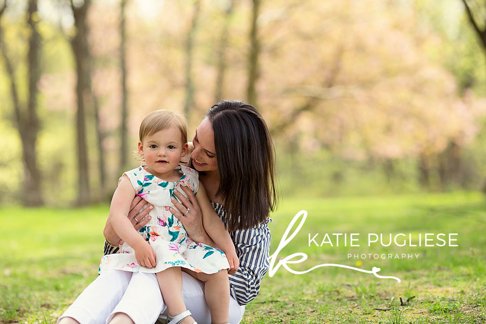 Spring photo session mom and daughter