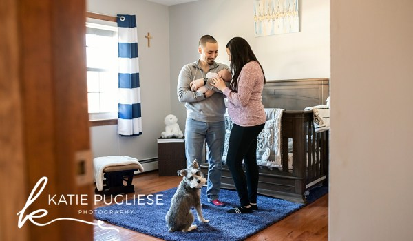 At Home Newborn (and dog) Photo Session: Naugatuck, CT  Lifestyle Photographer