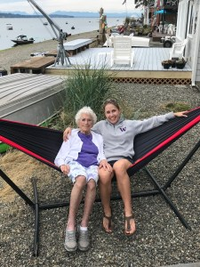 ENO Hammock with Grandma