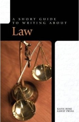 Cover image of the book a Short Guide to Writing About Law