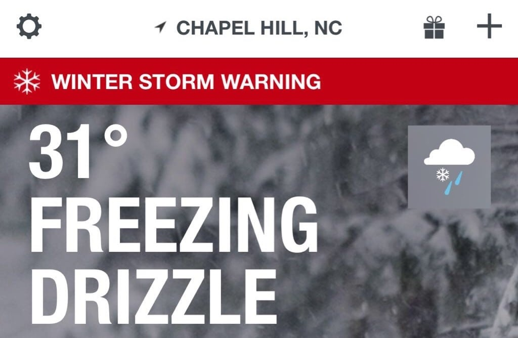"""Freezing Drizzle"" is not a weather event, it's an insult"