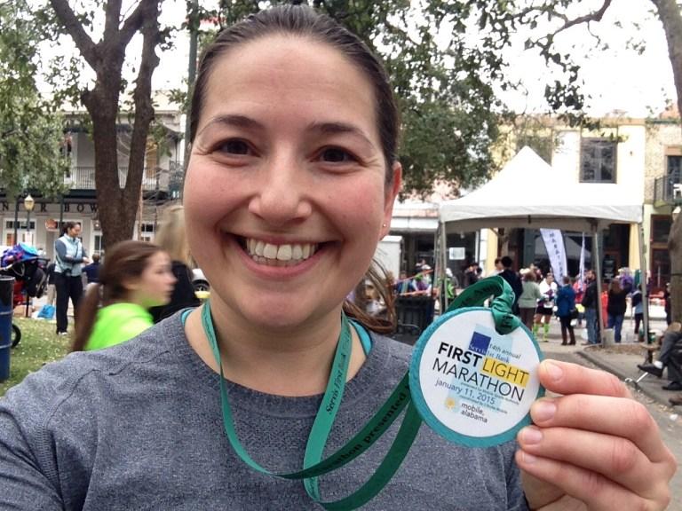 First Light Marathon medals